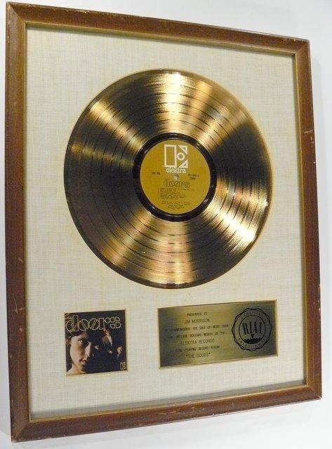 & Doors \u201c1st\u201d \u2013 1967 #2 Album \u2013 RIAA White Matte \u2013 Gold Record Award Pezcame.Com