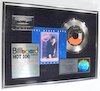 "Thumbnail image for Beach Boys ""Kokomo"" RIAA Flower Hologram Platinum 45 & Cassette Record Award"