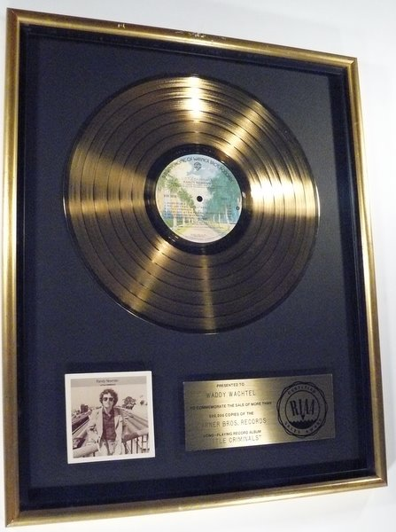 "Randy Newman ""Little Criminals"" 1978 Gold RIAA LP Floater Record Award"