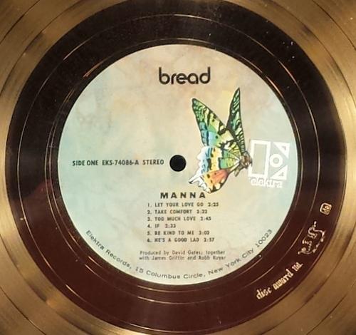 bread  u201cmanna u201d  u2013 1972 gold album  u2013 in